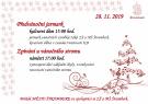 Předvánoční jarmark a zpívání u vánočního stromu  1