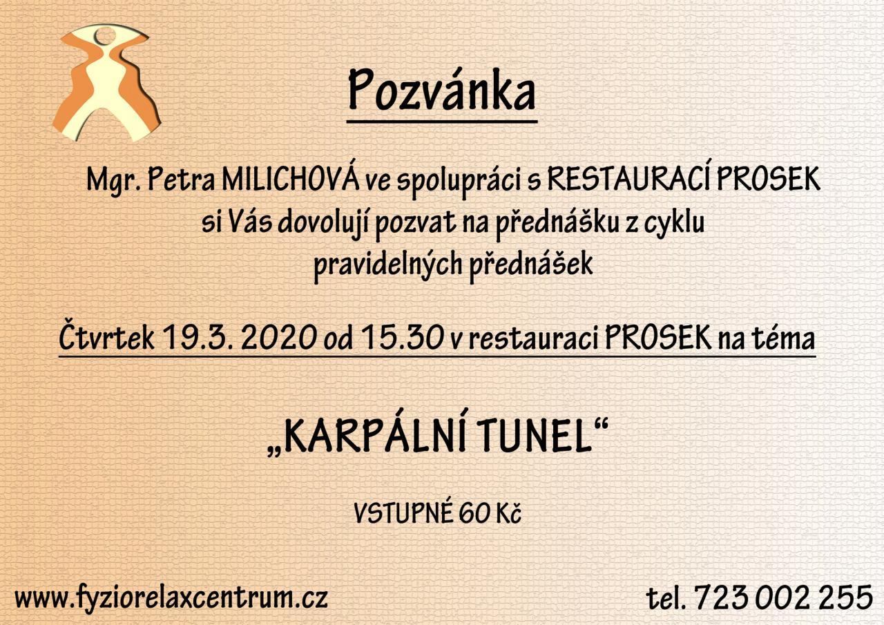 """Přednáška """"Karpální tunel"""" - ZRUŠENO"""