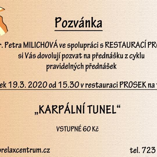 """Přednáška """"Karpální tunel"""" - ZRUŠENO 1"""