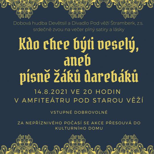 Komponované představení Kdo chce býti veselý aneb písně žáků darebáků 1