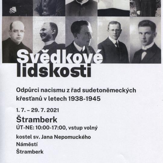 Svědkové lidskosti - Odpůrci nacismu z řad sudetoněmeckých křesťanů v l. 1938-1945  1